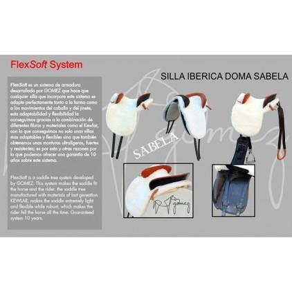 SILLA IBERICA DOMA SABELA COMPLETA 32. NEGRA FLEXSOFT