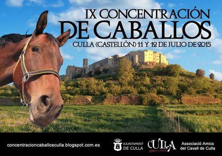 Concentración de caballos en Culla, Castellón 2015